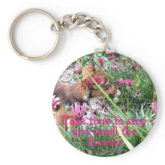Bumblesnot keychain: The Wee One/Smell the flowers