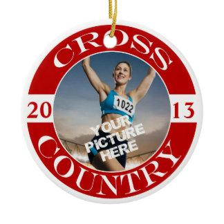 Cross Country Customizable Ornament