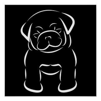Cute Baby Pug Poster