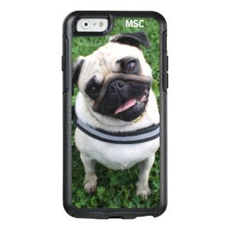 Cute Pug Puppy Dog Monogram Custom OtterBox iPhone 6/6s Case