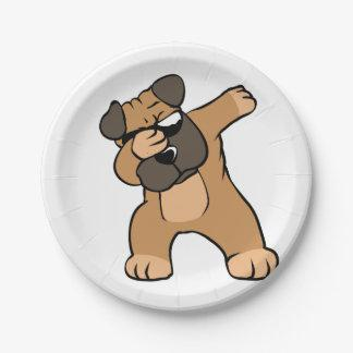 Dabbing Pug Funny Paper Plate