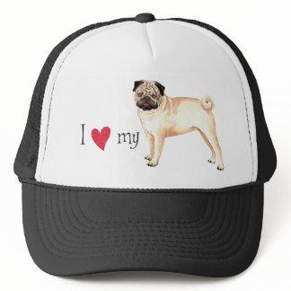 I Love my Pug Trucker Hat