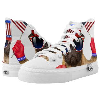 I want you ,pug ,uncle sam dog, High-Top sneakers