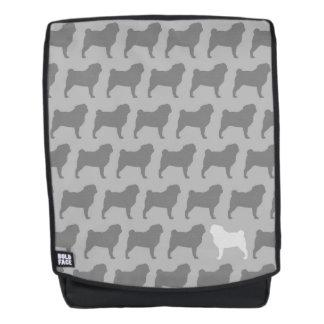 Pug Silhouettes Pattern Backpack