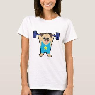 Pug Weight Lifting Funny Dog Lover Workout Fitness T-Shirt