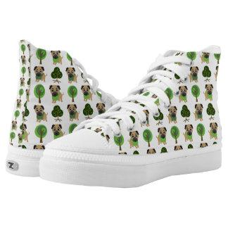 pugs and spring trees 2 High-Top sneakers