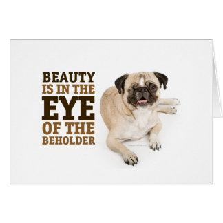 RD Pug Beauty Greeting Card Horizontal