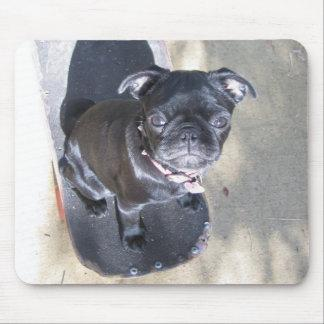 Skateboarding Pug Mousepad (Photo)