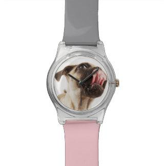 Small Breed of Dog with Short Muzzled Face Wrist Watch
