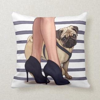 The Pug Life Throw Pillow