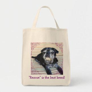 Bumblesnot tote bag:  Rescue is the best breed