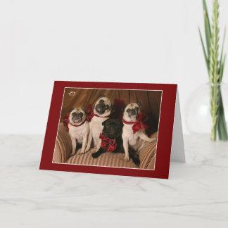 Christmas Blessing Pug Mug Holiday Card