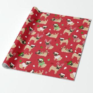 Christmas Pugs Wrapping Paper