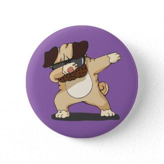Cool Dabbing Pug with Sunglasses Badge Button