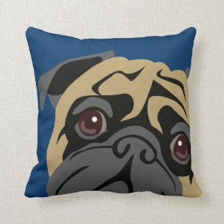 Cuddly Pug Throw Pillow