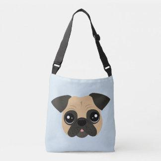 Cute Pug Cross Body Tote Bag