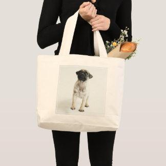 Cute Pug Puppy Large Tote Bag