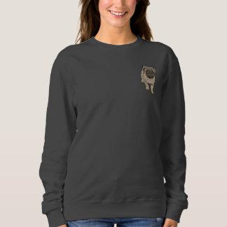 Cute Pug Women's Basic Pocket Sweatshirt -DGray