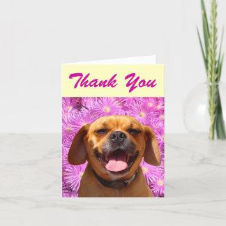 Cute Puggle Thank You Card
