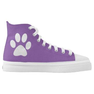 Doggy Paws Prints High-Top Sneakers