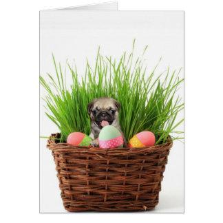 Easter pug puppy card