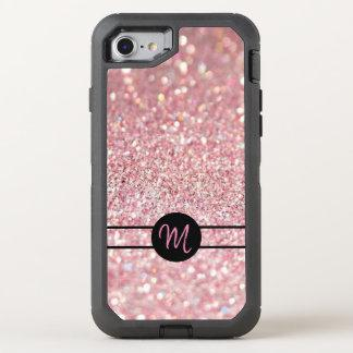 Faux Glitter with Monogram OtterBox Defender iPhone 8/7 Case