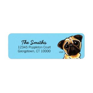 Fawn Pug Face Custom Color Label