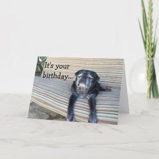 Greeting card: Happy birthday/Close your eyes Card