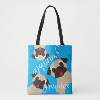 Grumble Grumble Fawn Pugs Tote Bag
