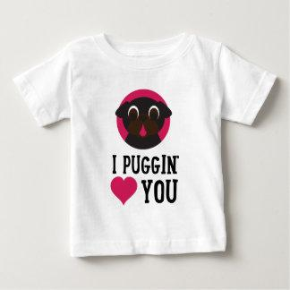 I Puggin' Love You Black Pug Baby T-Shirt