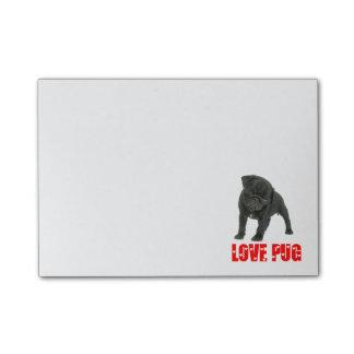 Love Black Pug Puppy Dog Post IT Sticky Notes