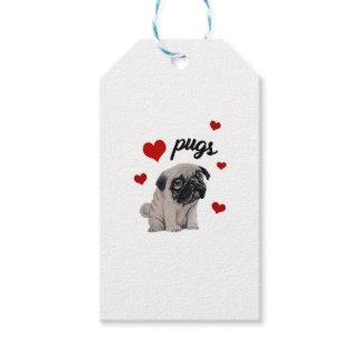 Love pugs gift tags
