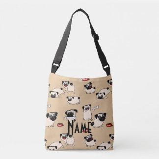 Love Pugs - personalized gift for Pug lovers Crossbody Bag