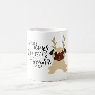 May Your Days Be Merry & Bright Pug Mug