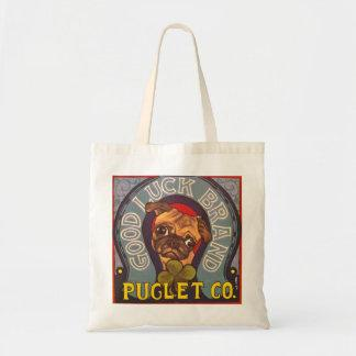 Painted Pug Tote