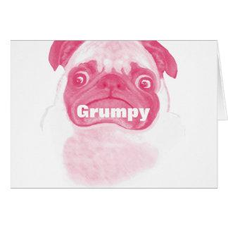 Personalized PINK Grumpy Puggy Card