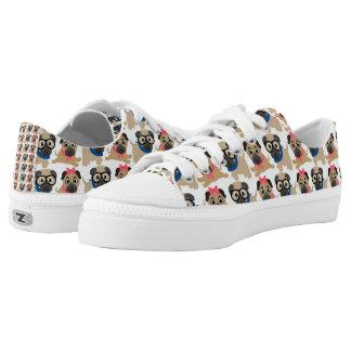 Playful Pugs 2 Low-Top Sneakers