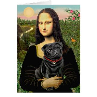 Pug 16 (black) - Mona Lisa