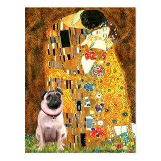 Pug 1 - The Kiss Postcard