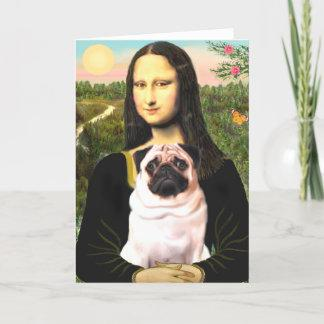 Pug 3 (fawn) - Mona Lisa Card