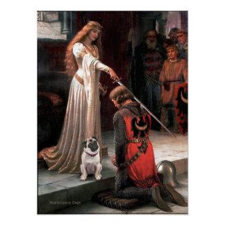 Pug 5 (fawn) - The Accolade Poster