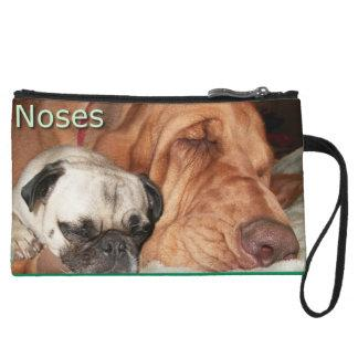 Pug and Bloodhound Noses Clutch Purse