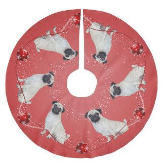 Pug Christmas Tree Skirt
