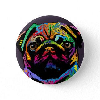 Pug Dog Button