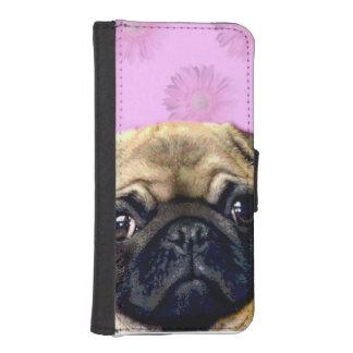 Pug Dog Wallet Phone Case For iPhone SE/5/5s