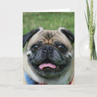 Pug Dog Notecard