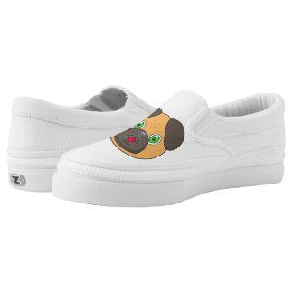 Pug Face character Slip-On Sneakers
