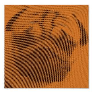 Pug Face Poster