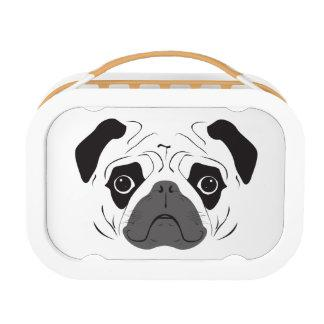 Pug Face Silhouette Lunch Box