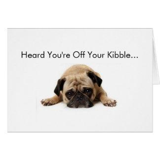 Pug Get Well Soon Card